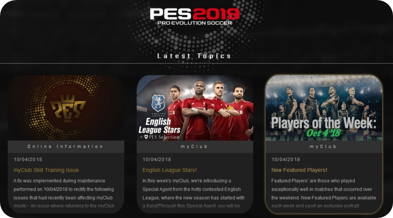 Pro Evolution Soccer Latest News